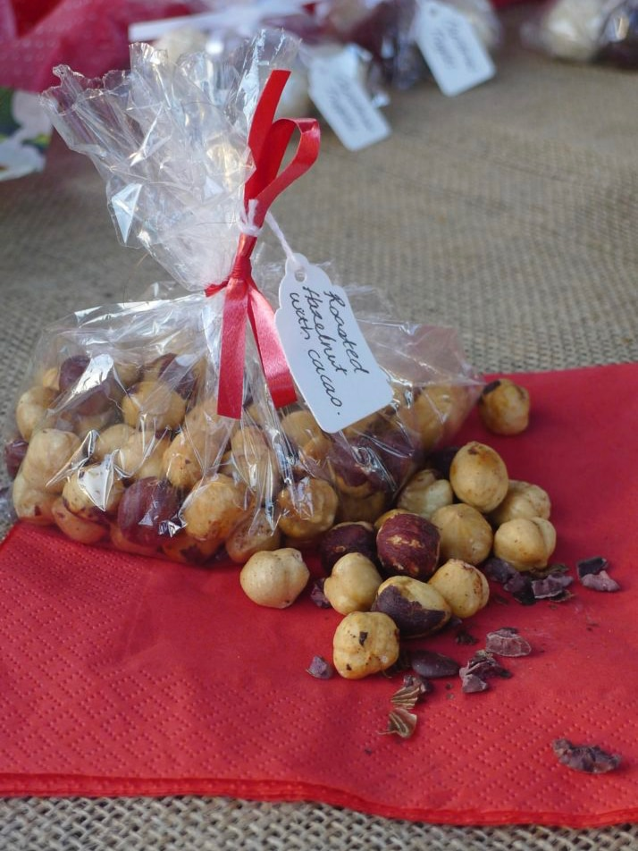 Roasted Hazelnuts with Cacao Nibs