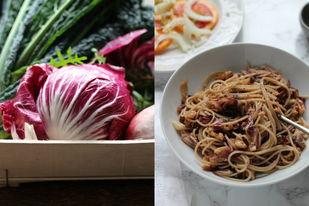 Radicchio & Walnut Spaghetti   Gluten Free   Vegan   Natural Kitchen Adventures