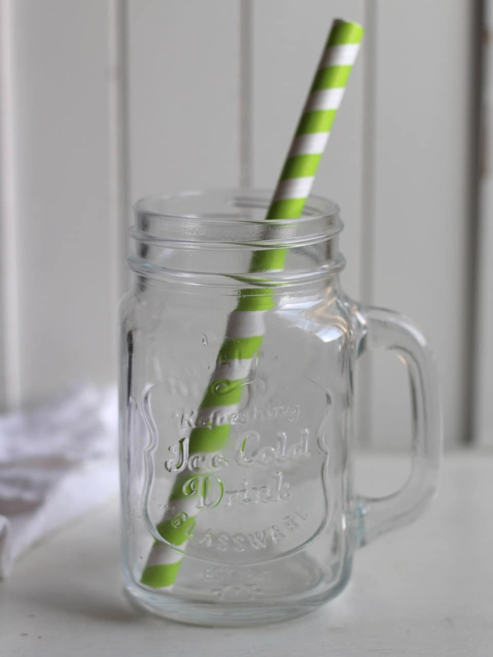 Glass from TK Maxx, Straws from Tiger!