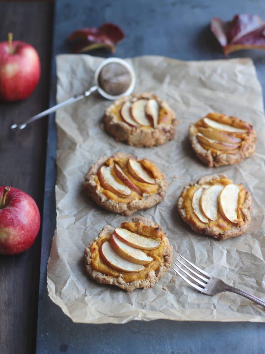 Apple & Squash Hazelnut Pastry Galettes