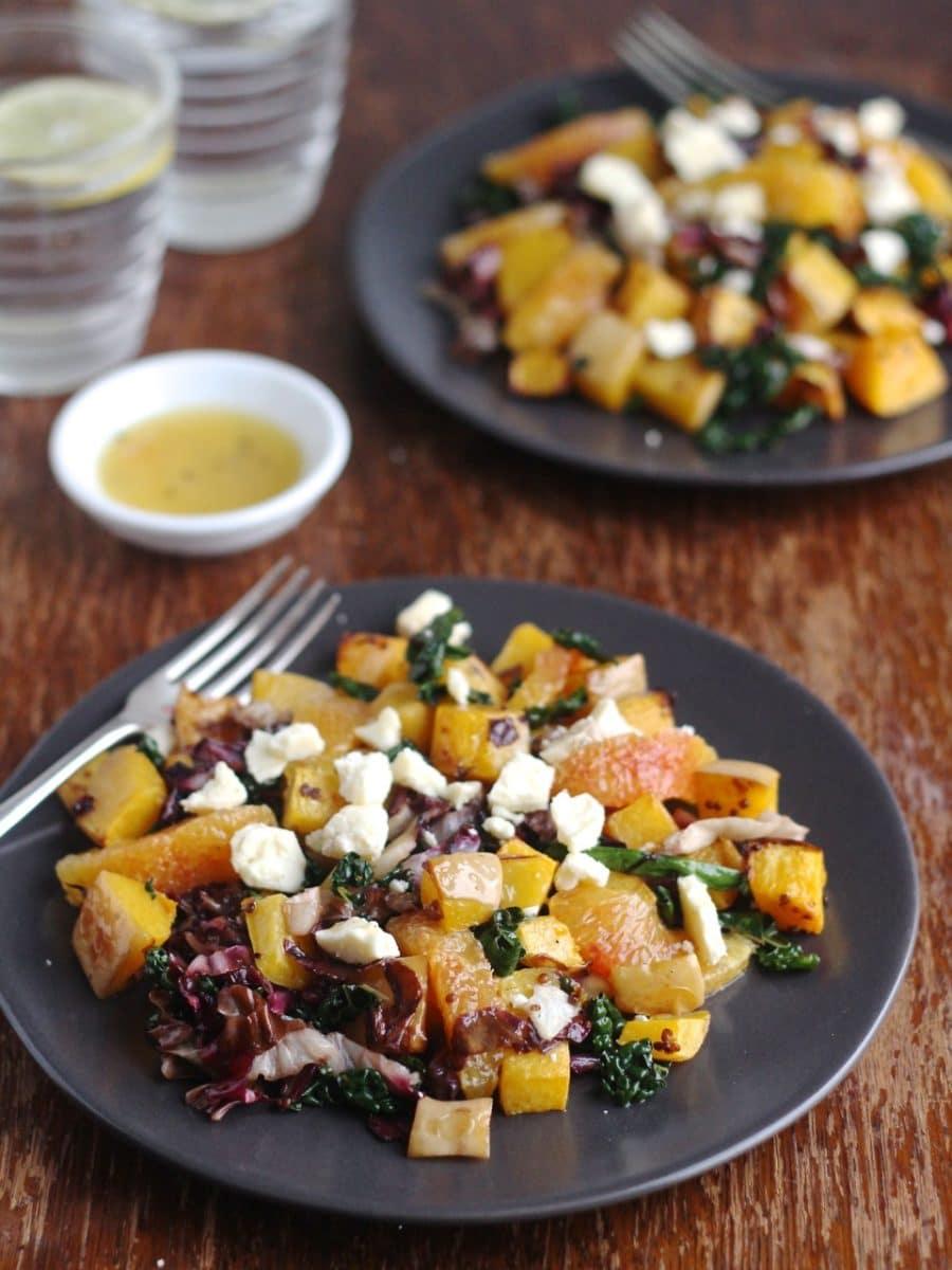 Squash, Blood Orange & Radicchio Salad
