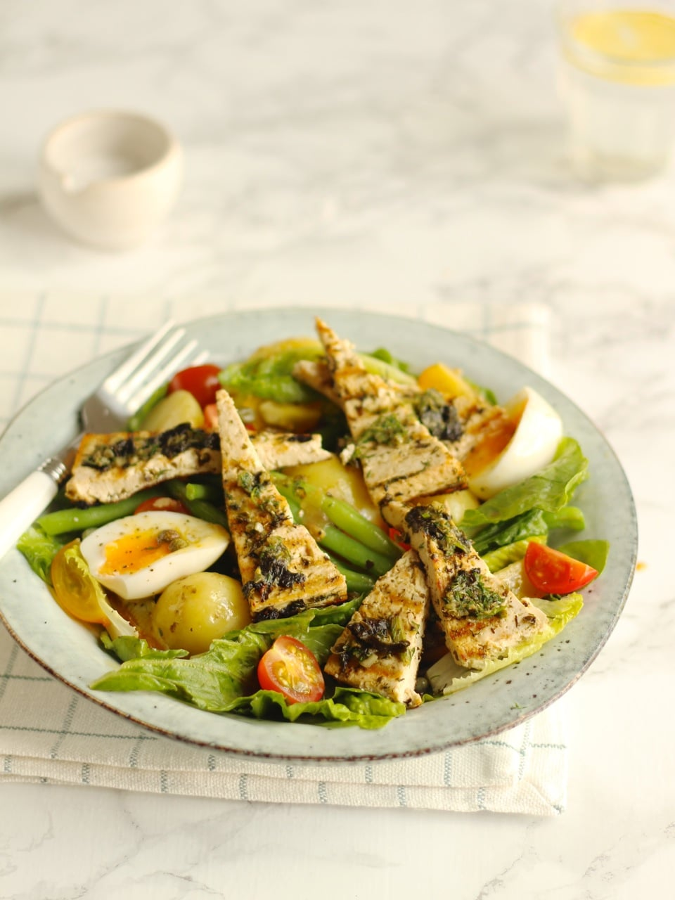 Tofu Nicoise Salad, a vegetarian or vegan take on this French Salad | Natural Kitchen Adventures