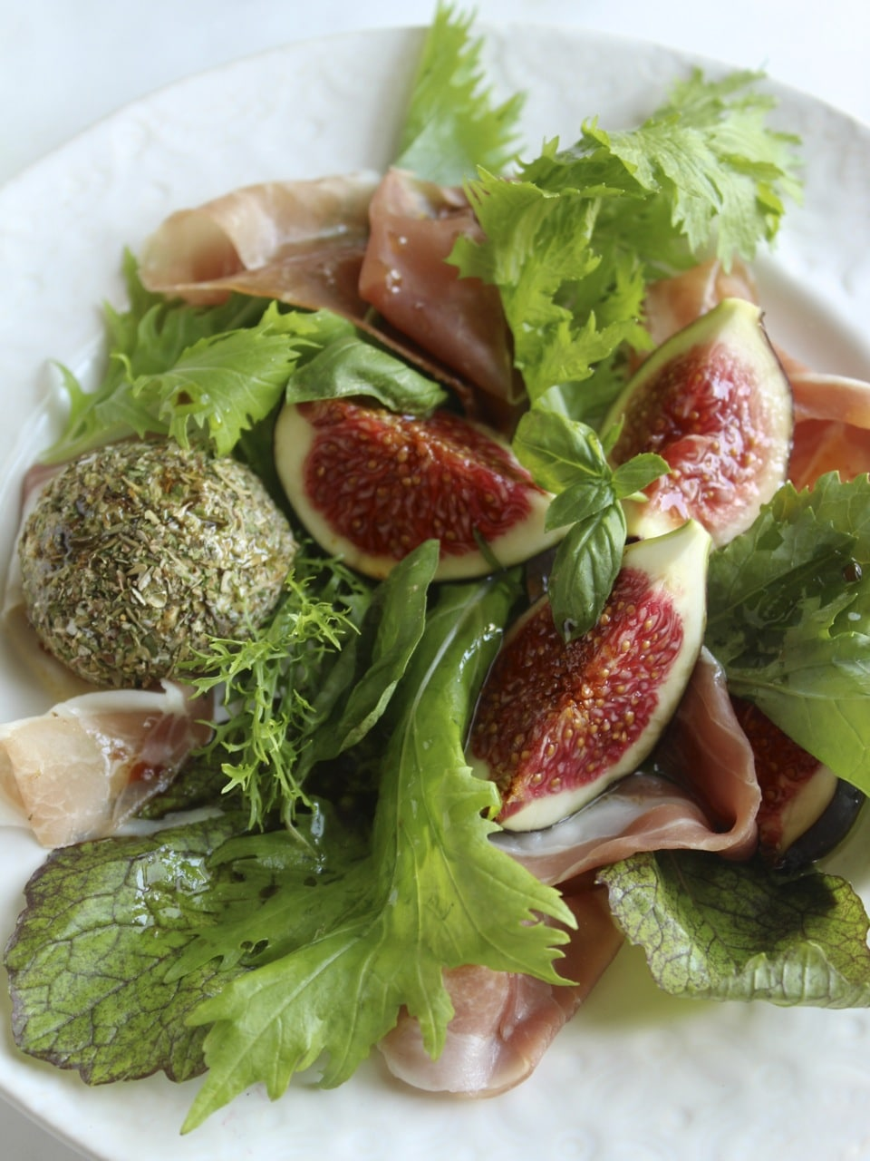 Herb rolled cashew cheese Parma Ham Fig | Natural Kitchen Adventures