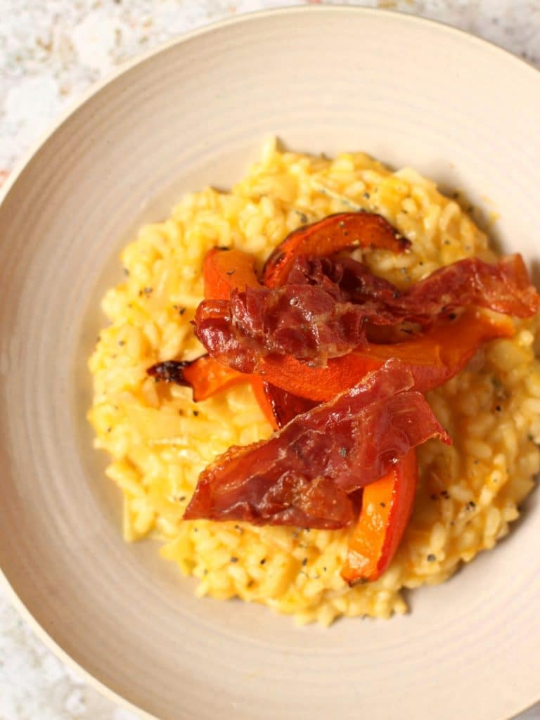 Red Kuri Squash Risotto Parma Ham Blue Cheese | Natural Kitchen Adventures