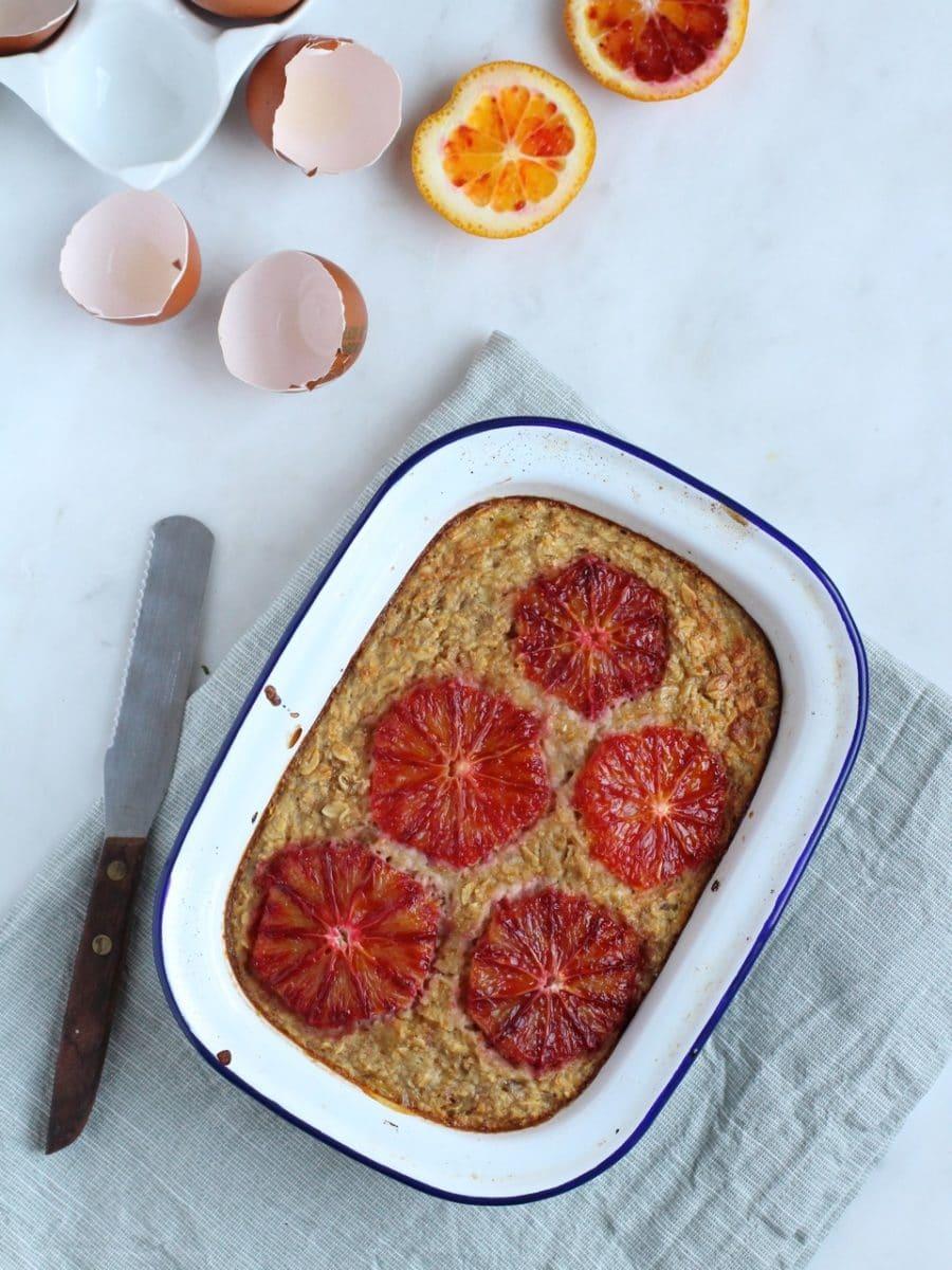 Oat Breakfast Bake with Blood Orange
