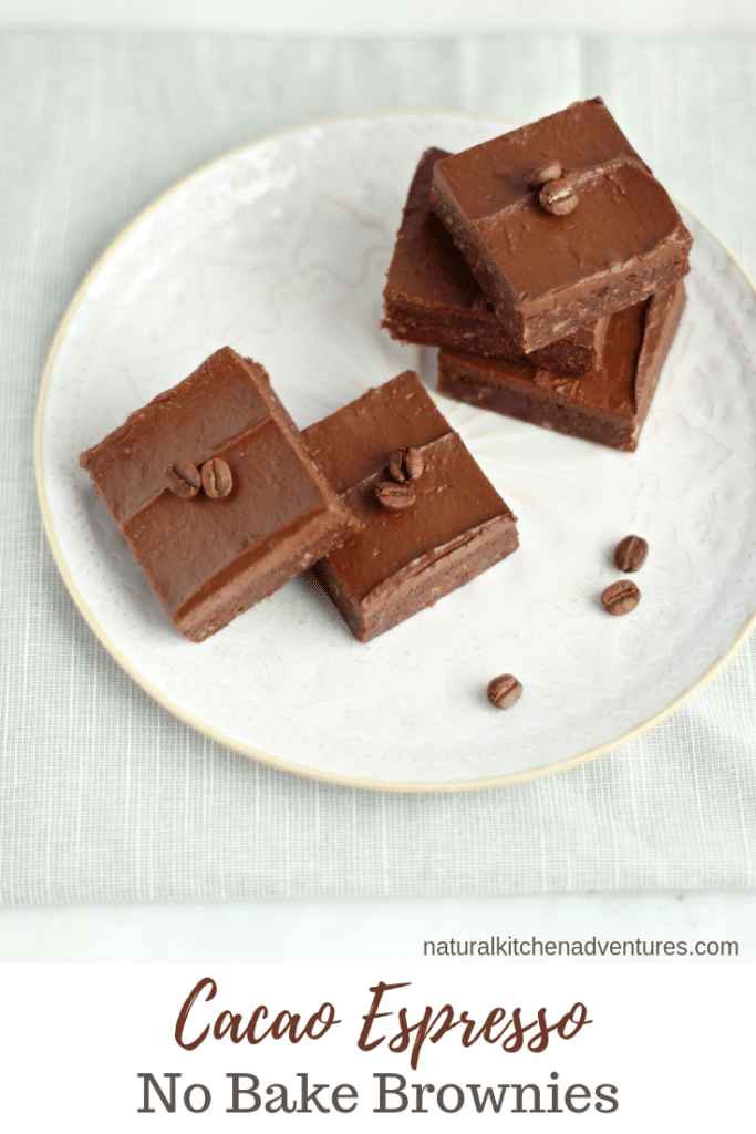 Cacao Espresso No Bake Brownies | Natural Kitchen Adventures
