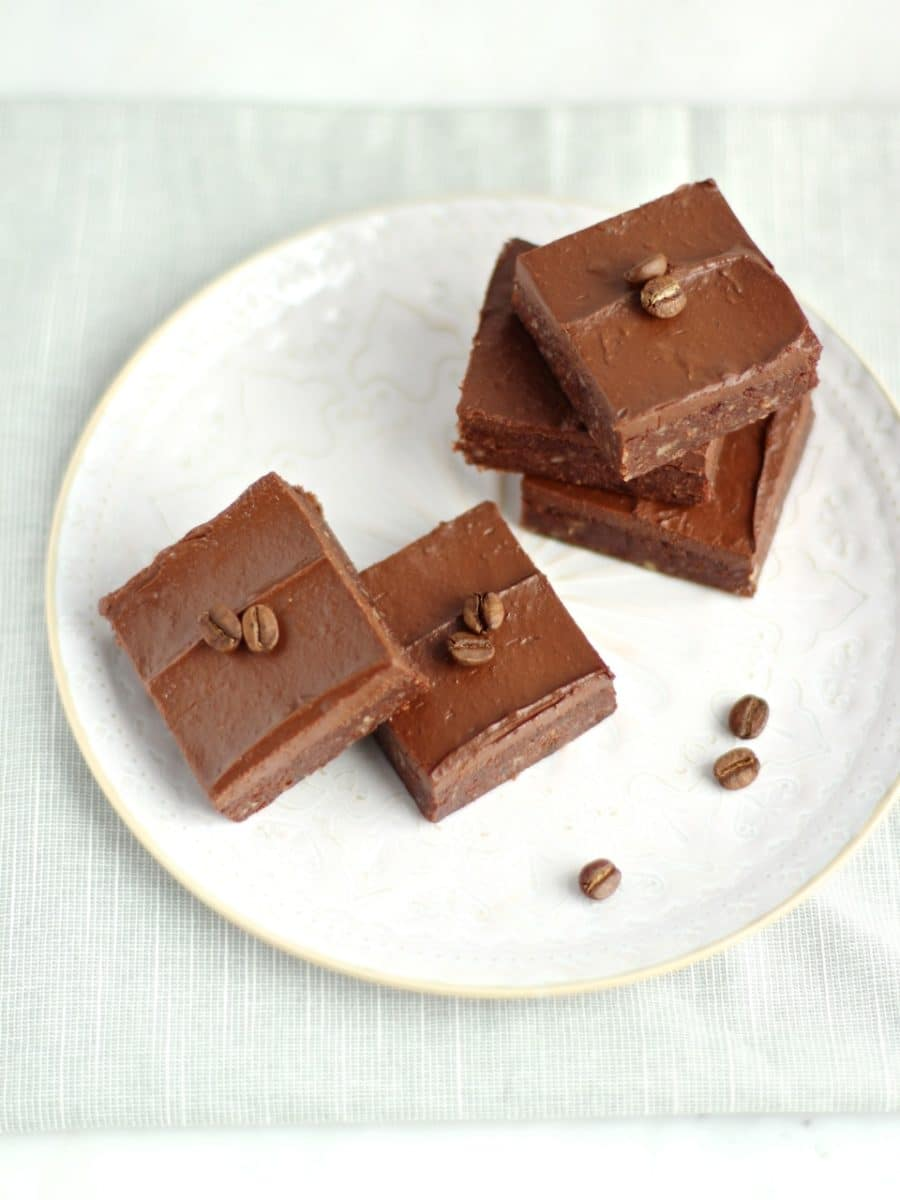 Cacao Espresso No Bake Brownies