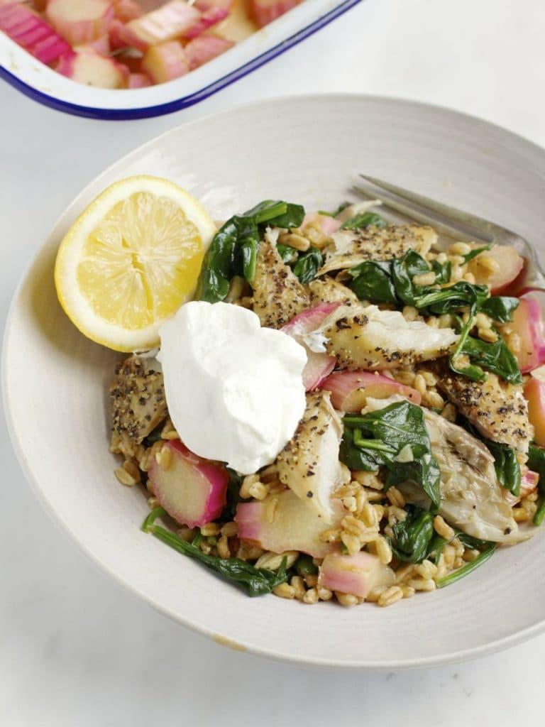 Spelt, Rhubarb and Smoked Mackerel | Natural Kitchen Adventures