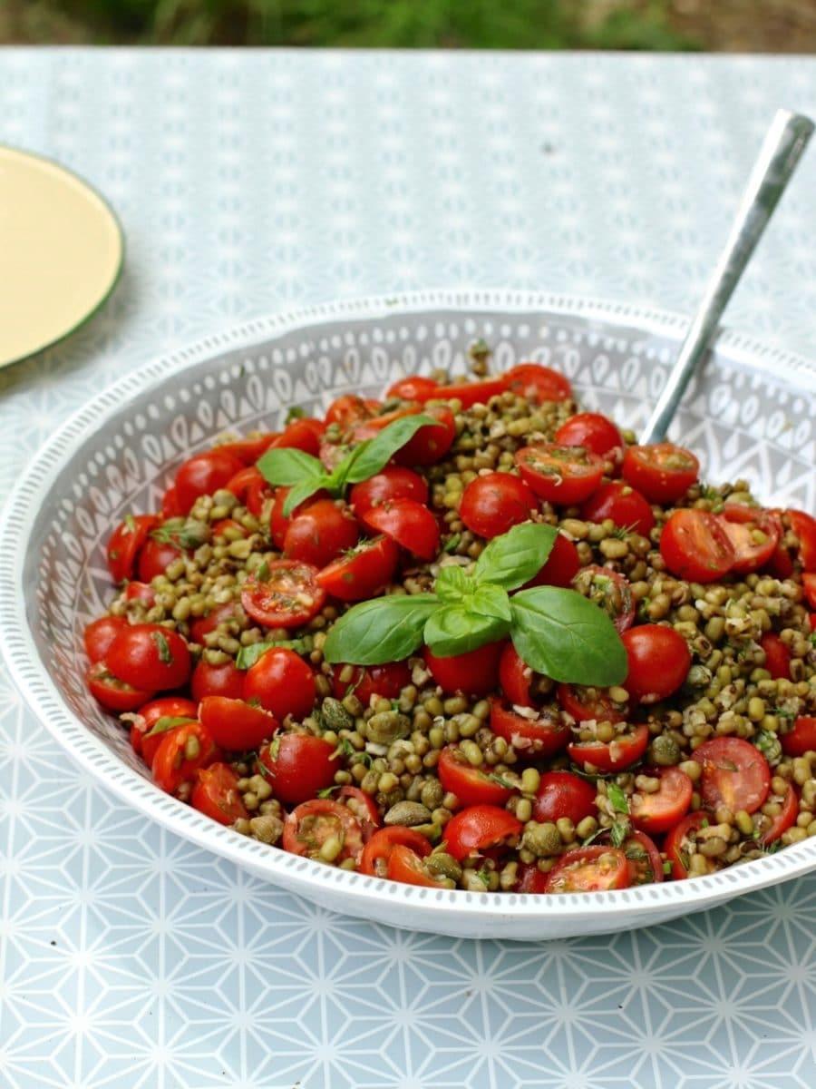Cherry Tomato & Mung Bean Salad
