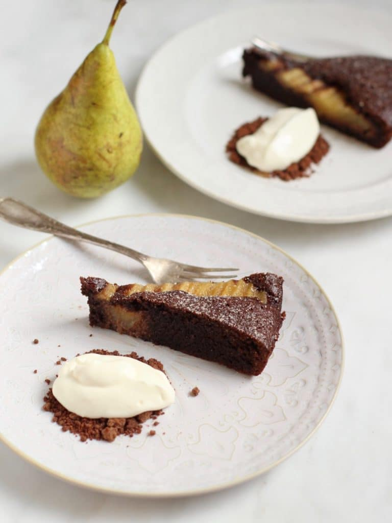 Chocolate and Pear Almond Tart | Natural Kitchen Adventures