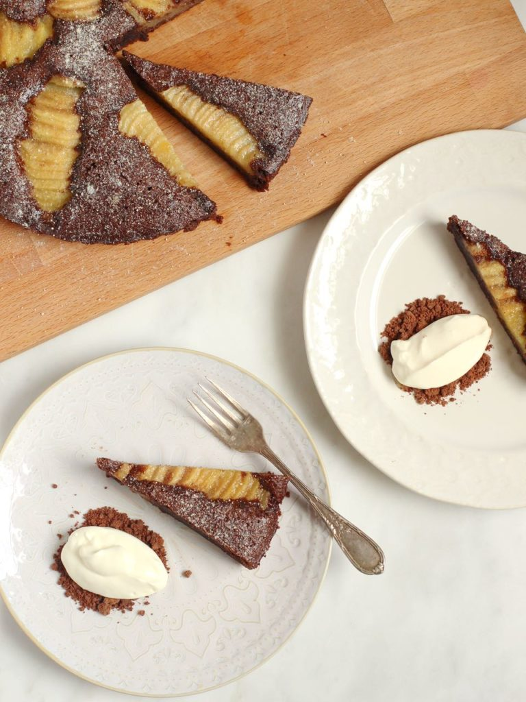 Chocolate and Pear Almond Tart | Natural Kitchen Adventures | Gluten Free