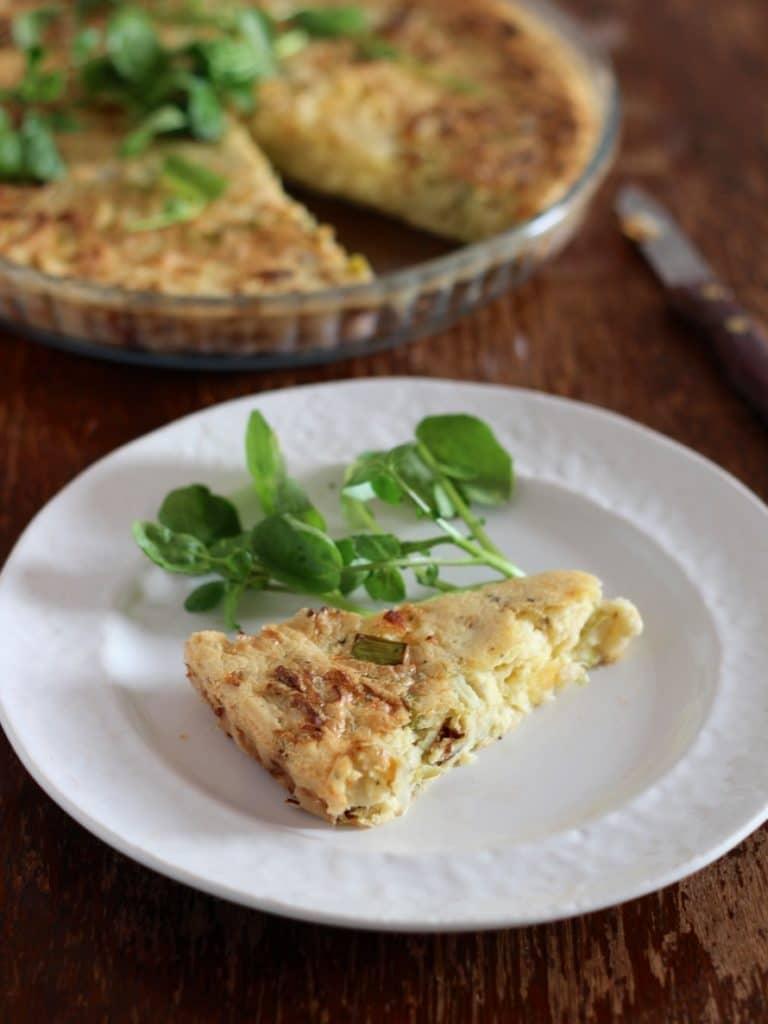 Leek & Caerphilly Tart | Natural Kitchen Adventures App