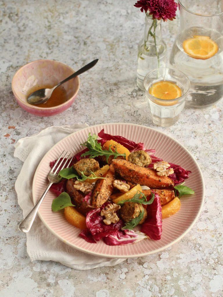 Za'atar Sweet Potato Radicchio | Natural Kitchen Adventures