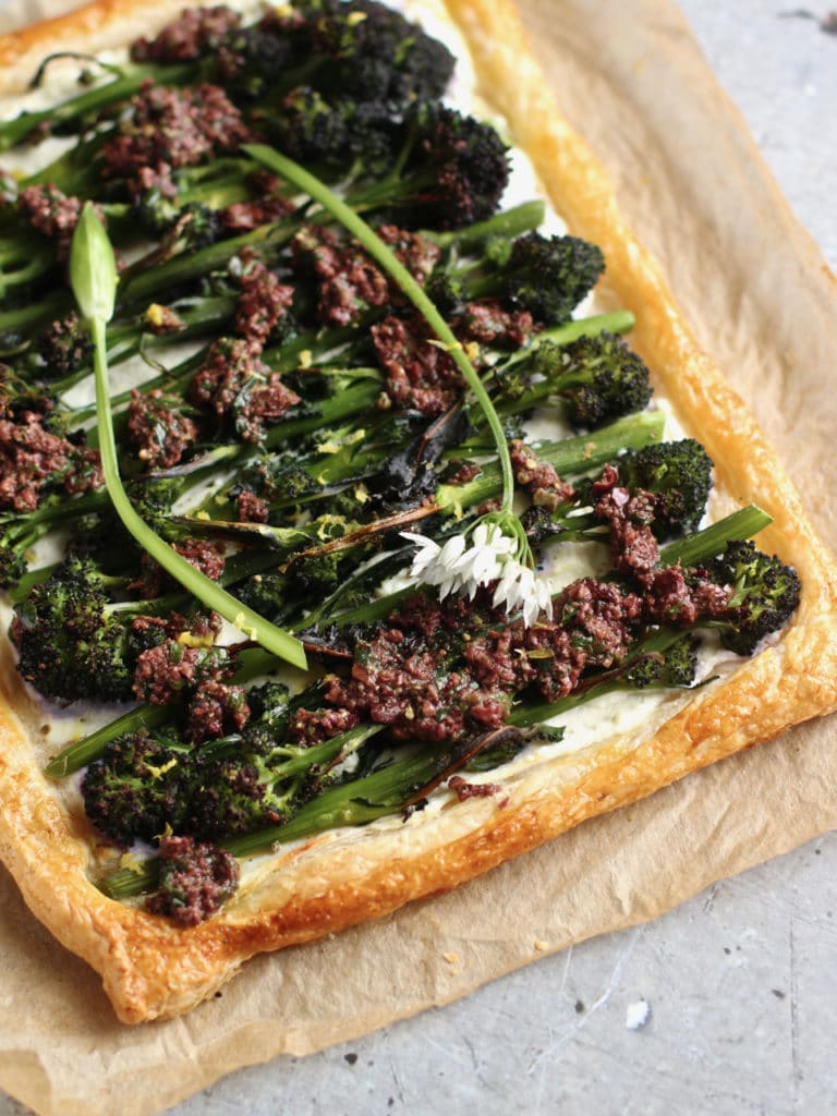 PSB puff pastry tart | Natural Kitchen Adventures