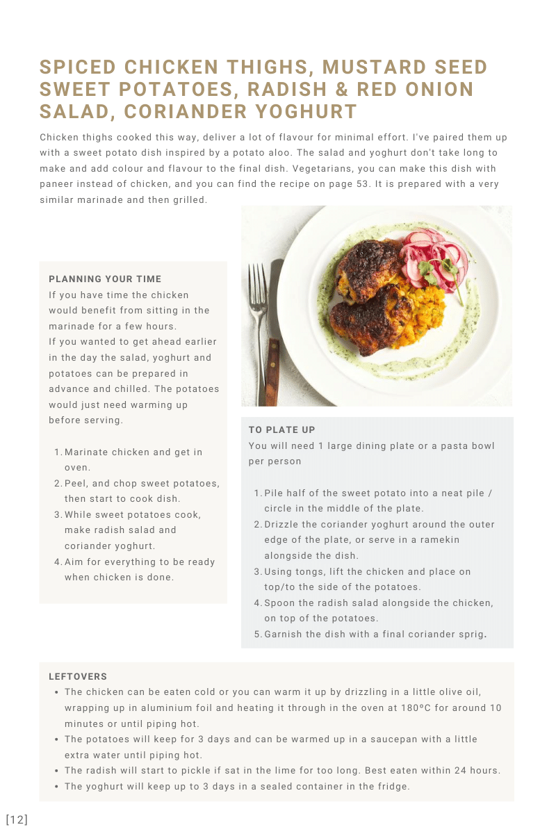 Spiced Chicken Intro Page Seasonal Suppers | Ceri Jones Chef